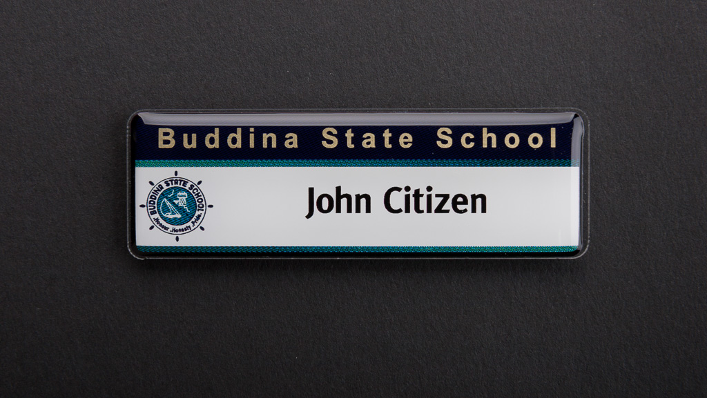A school teacher name badge