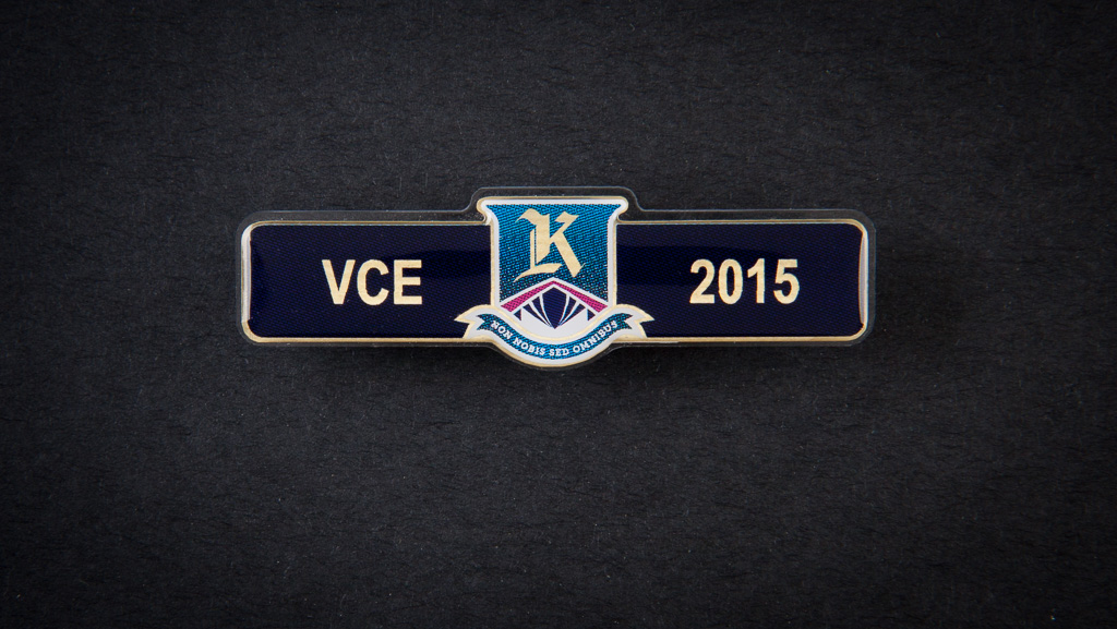 A small VCE badge