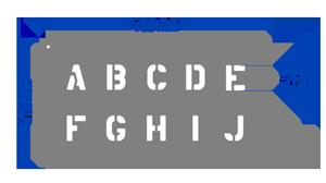 ABCD alphabet stencils