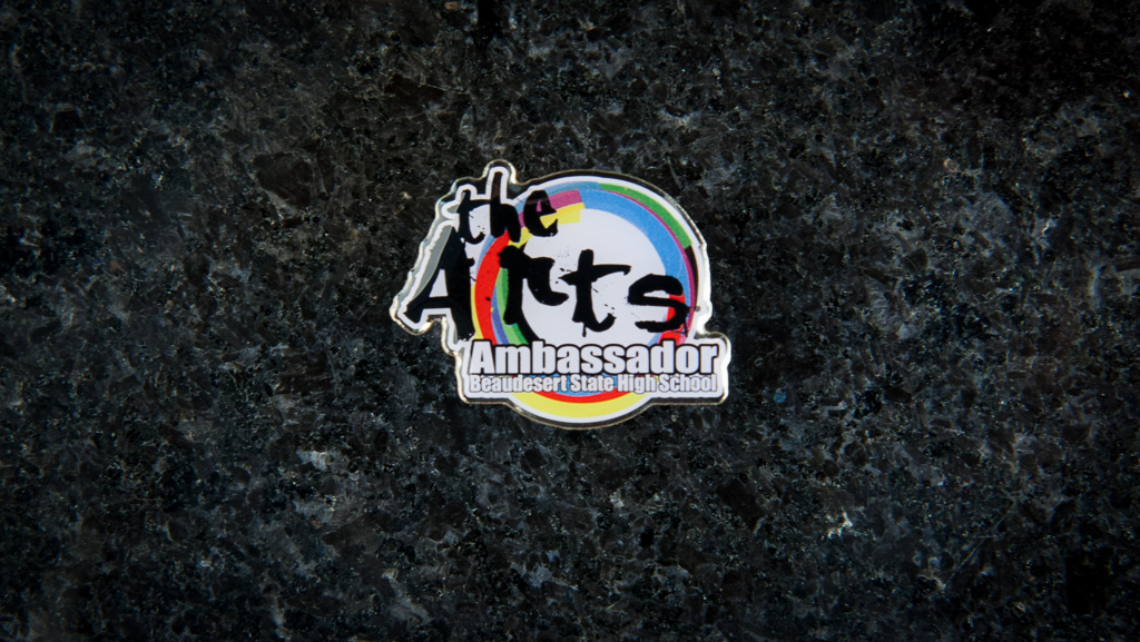 Digital print on metal with epoxy colourful arts badge