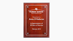 Custom made award plaques