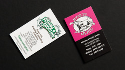 custom made business cards with design service
