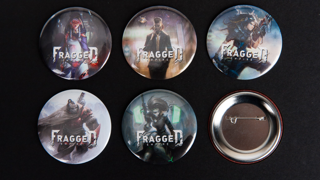 6 custom button badges