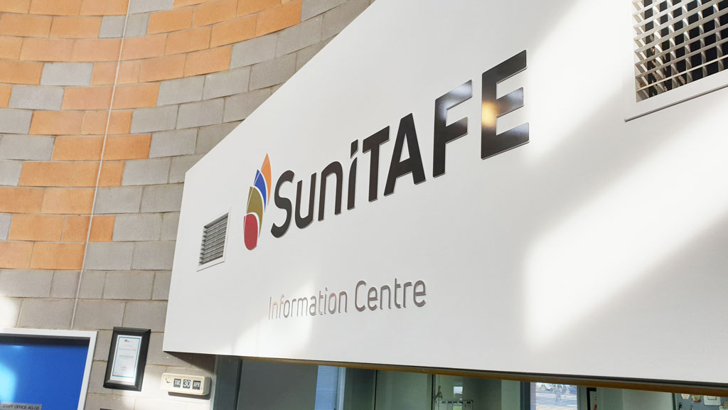 Suni Tafe information centre sign.