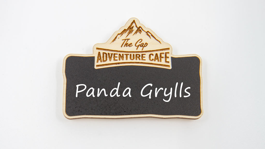 Reusable magnetic name badge made in Australia. Chalkboard style and wooden.