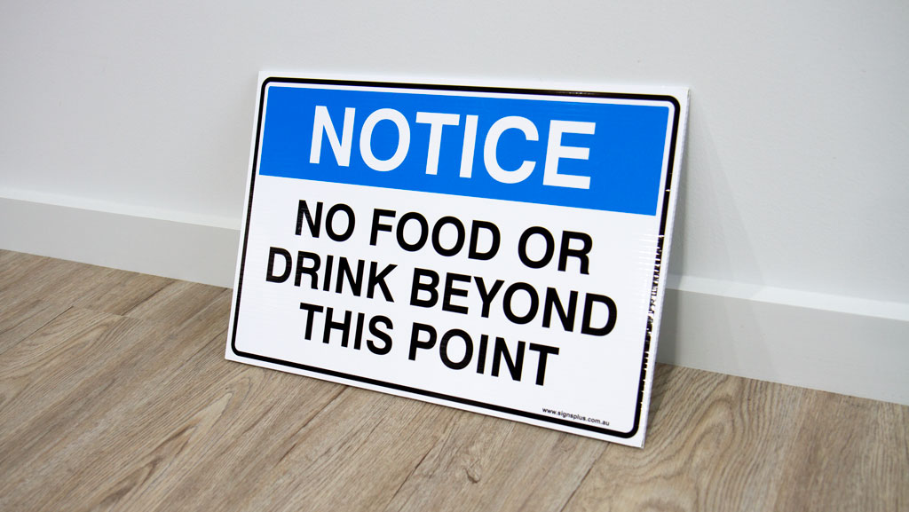 A custom manufactured and design corflute safety sign.