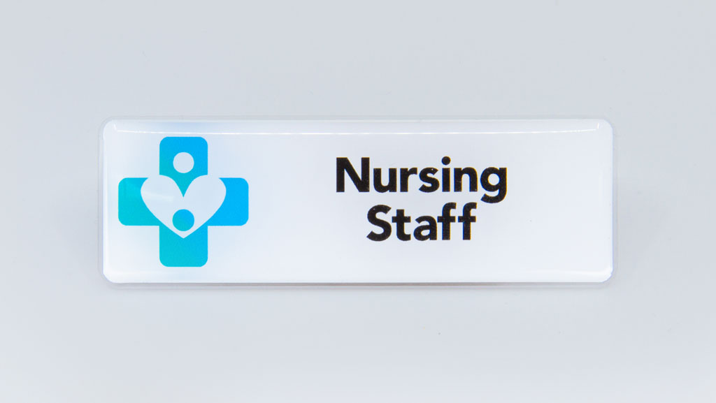 Nursing staff badge.
