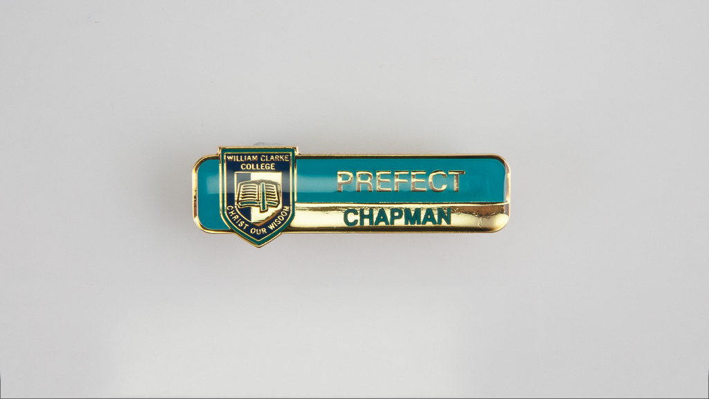 A custom designed in Australia school badge.