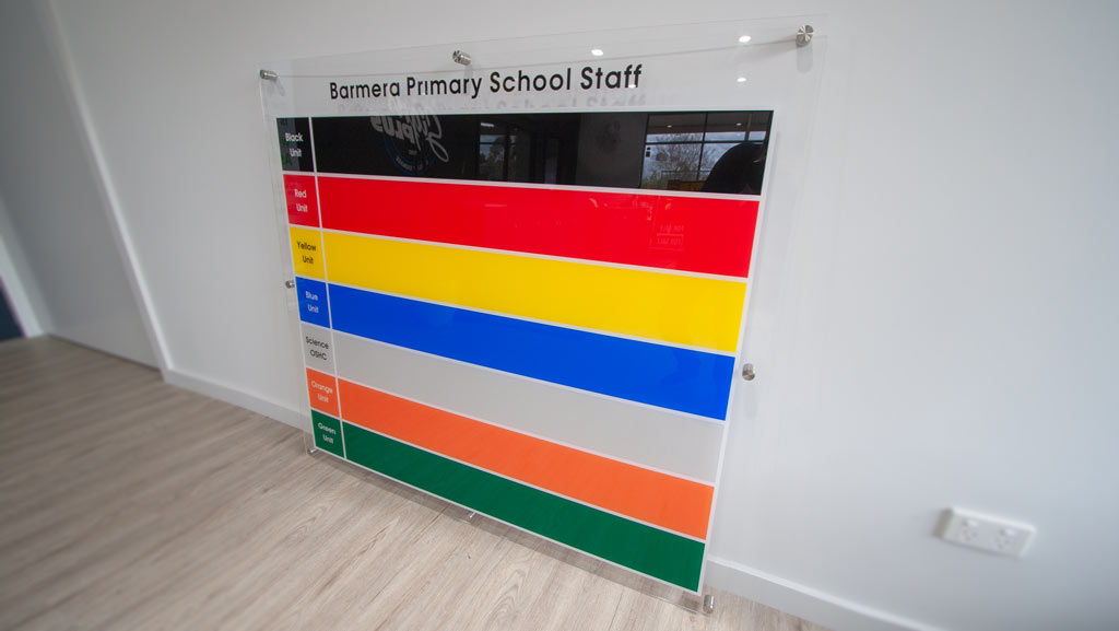 Custom manufactured Primary School Staff Sign