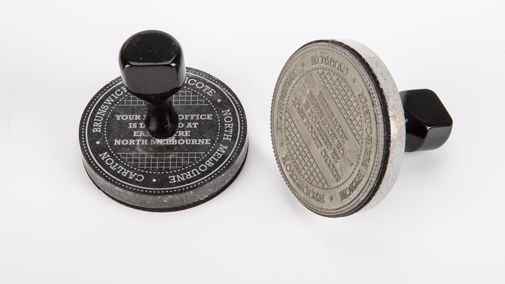 Round traditional stamp. Custom traditional rubber stamps company seal