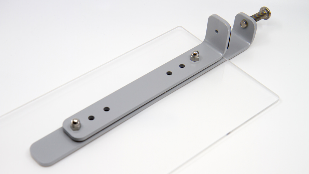 Heavy duty office divider bracket.