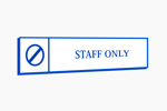 Staff Only door sign. Custom made to order in Australia.