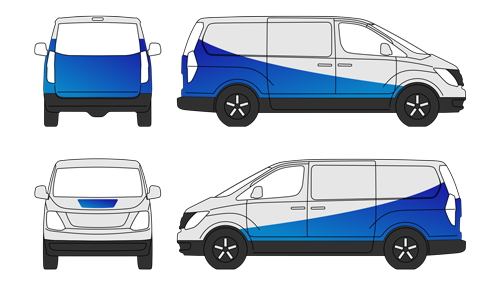 half body wrap van icon
