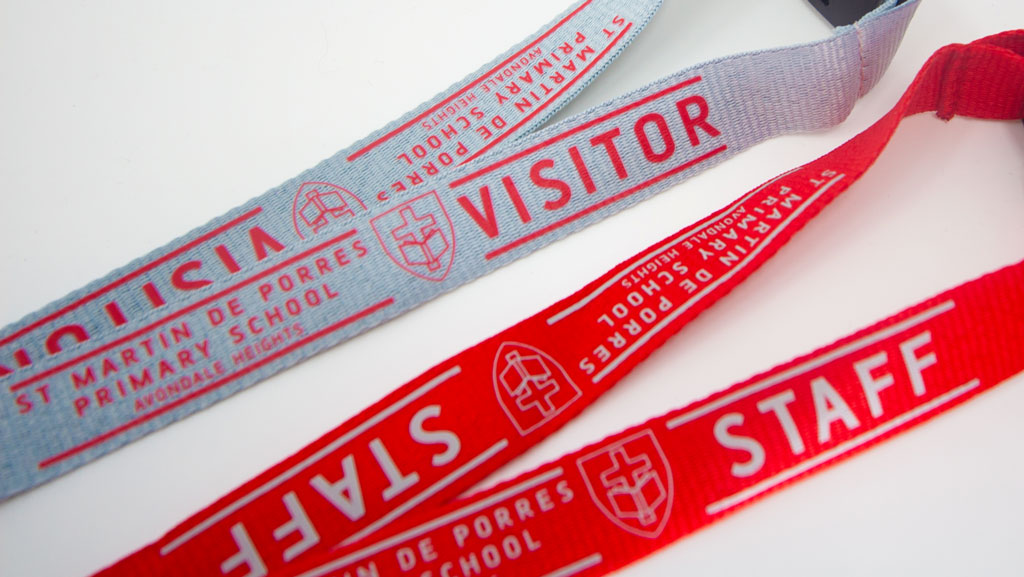 High quality custom printed lanyards for schools. Visitor and staff.