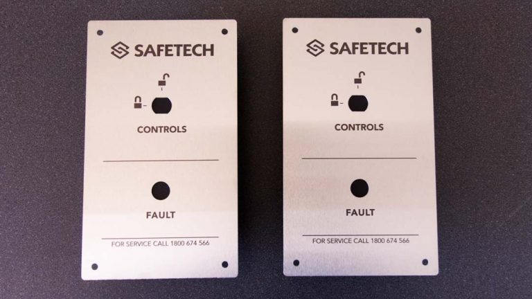 2 laser engraved switchboards