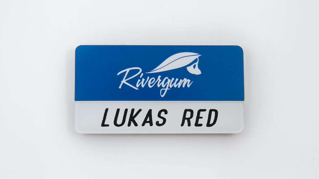 A branded reusable name tag for your business.