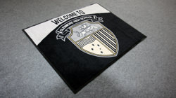 Custom made and designed logo floor mats
