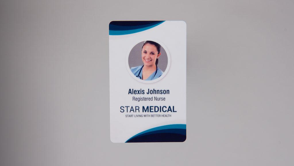 Medical staff ID card.