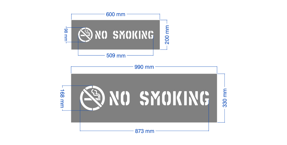 No Smoking stencils, high quality and Australian made.