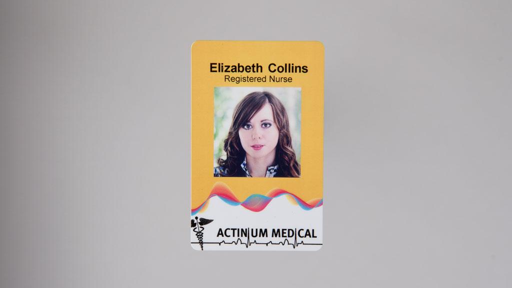 Nurse identification card.