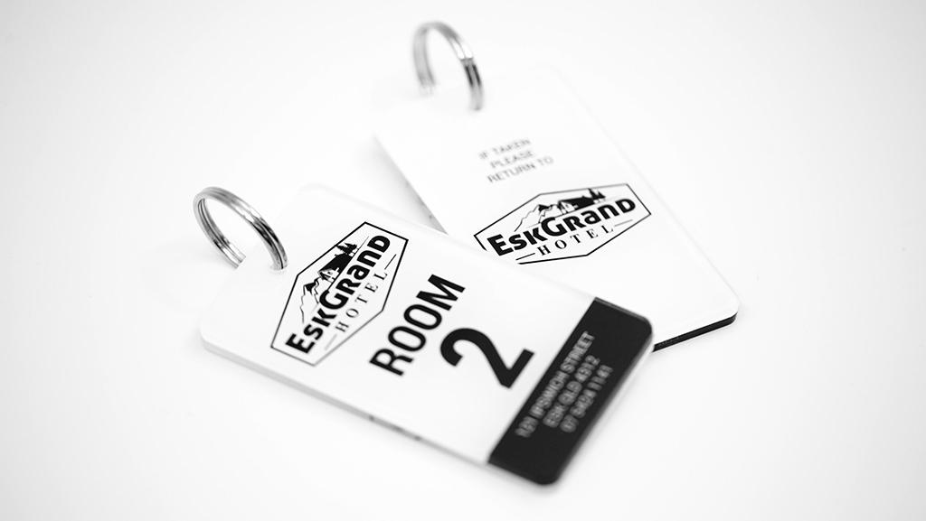 Custom Key tags plastic.