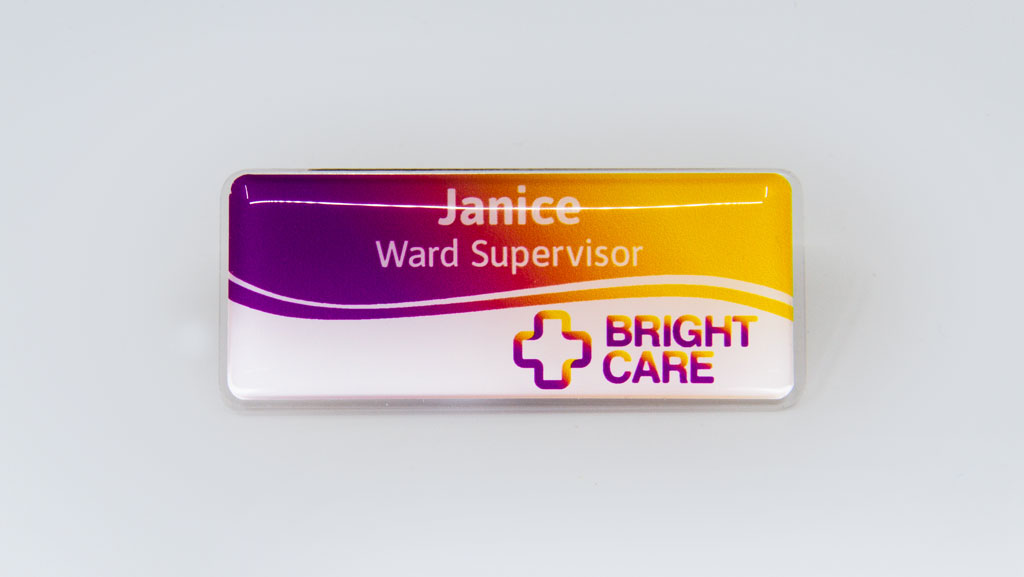 Custom nurse name tag.
