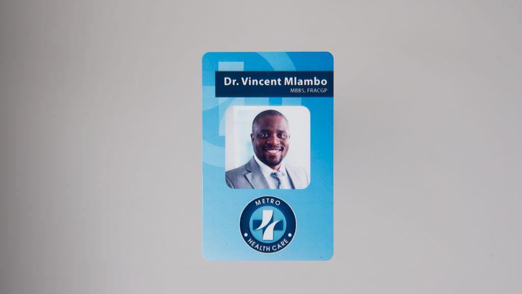 One custom ID card.