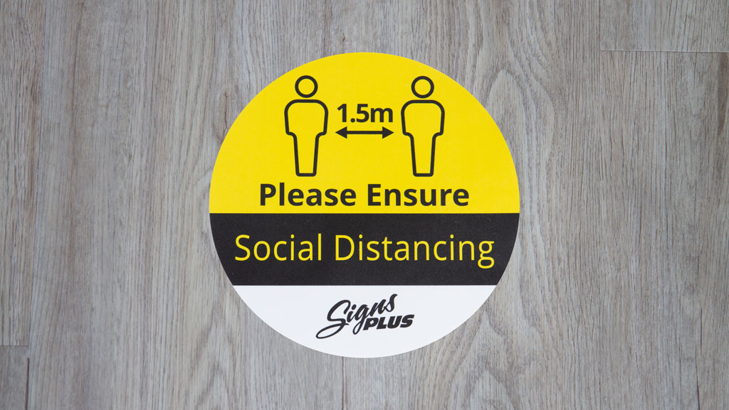 Please-Ensure-Social-Distancing-Floor-Sticker