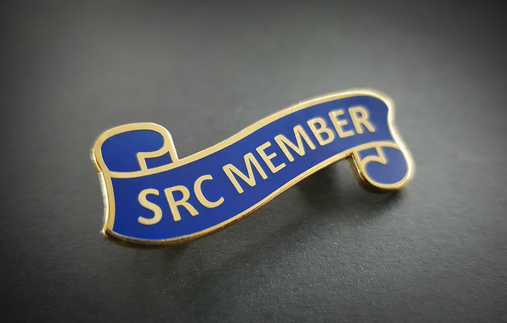 Stock SRC metal badges hard enamel