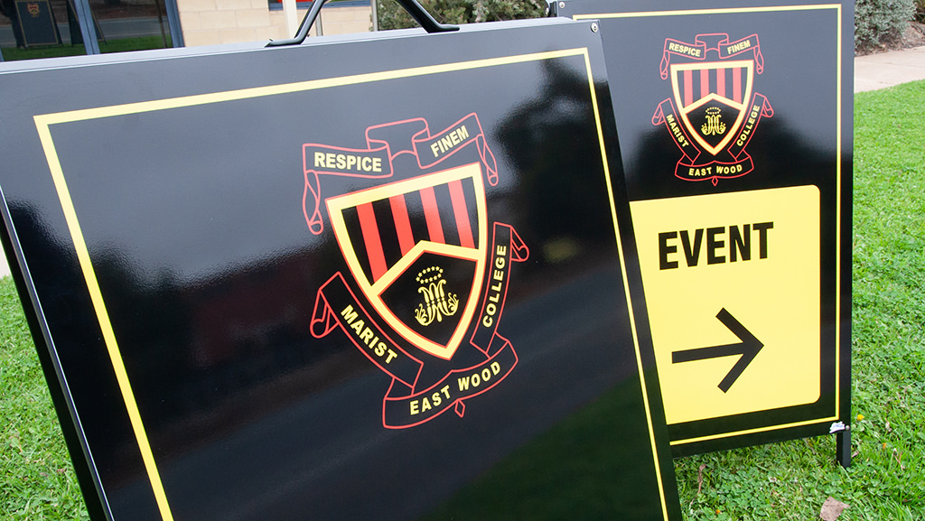 Custom A Frame signs for schools.