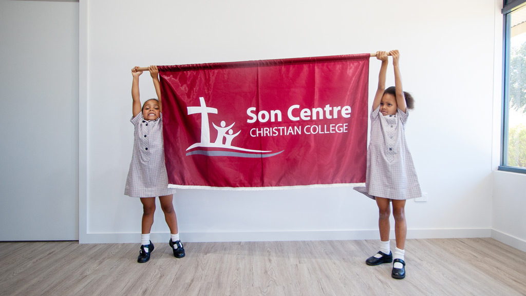 Custom made School Marching Banner for Son Centre Christian College