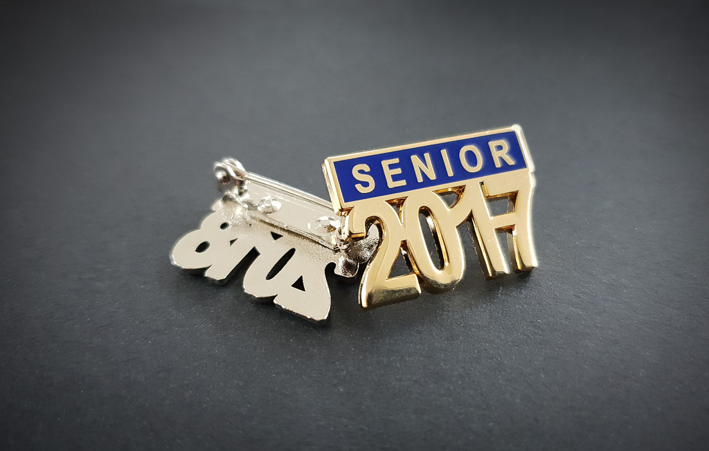 Senior metal badge
