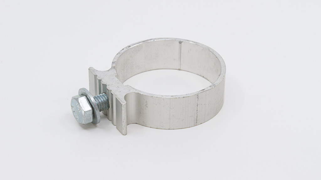 Single sided bracket for single 50mm nominal bore post