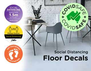 social distancing floor stickers banner image
