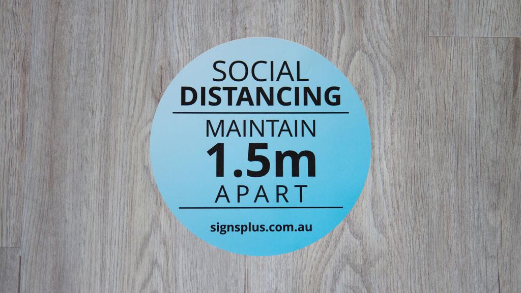 Social Distancing Maintain 1.5m Apart