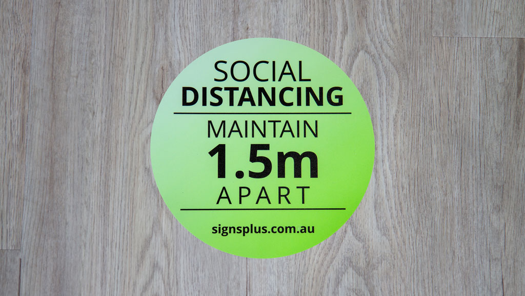 Social Distancing Maintain 1.5m Apart Floor Sticker