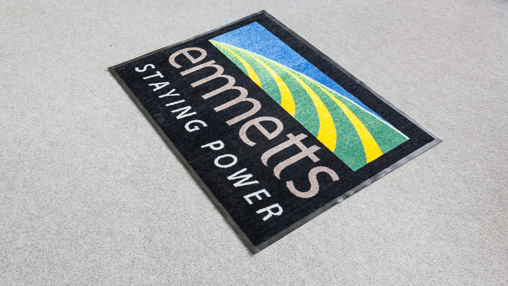 Standard size business logo door mat australia