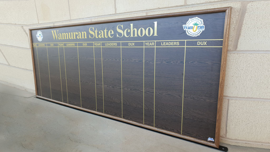 State school honour board.