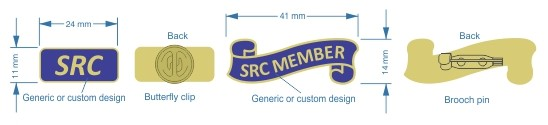 Student SRC and SRC member badges