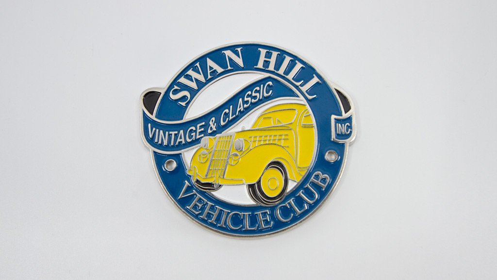 Swan Hill Vintage & Classic Vehicle Club car emblem.