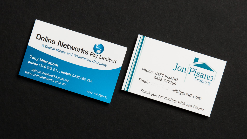 Australian design business cards.