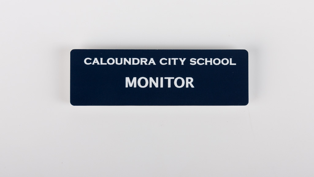 nave blue custom school name tag