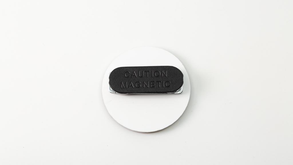 Covid-19 Safe Plastic Magnetic Clip Coronavirus Pandemic Custom Badge 40mm