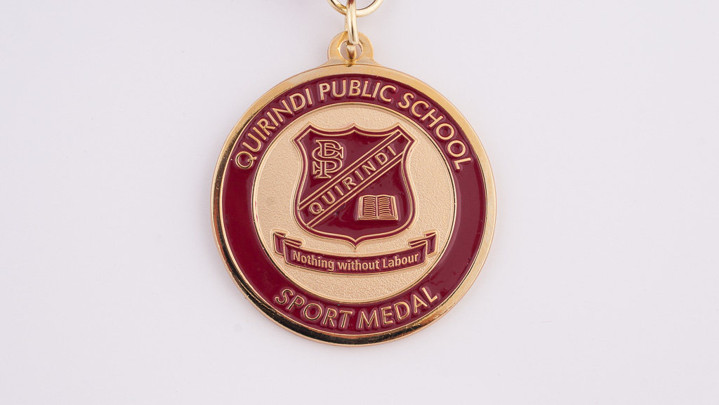 Public school medal customised.