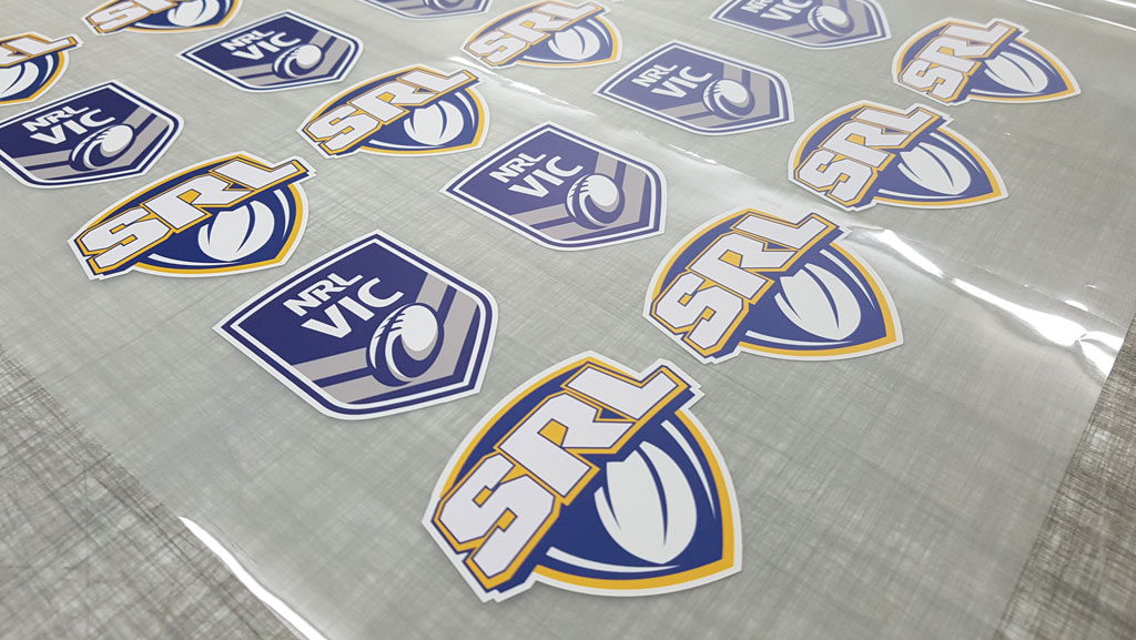 SRL Shield Shaped Stickers