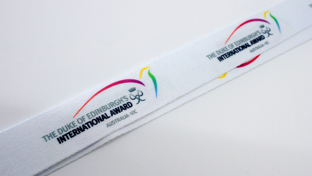 Dye sublimation logo lanyard