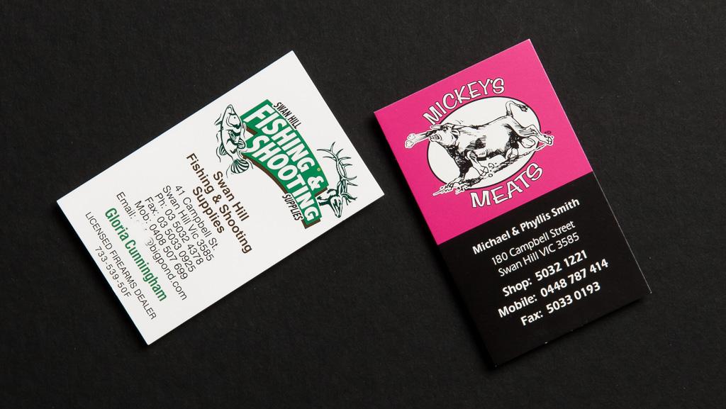 Vertical, portrait shaped business cards.