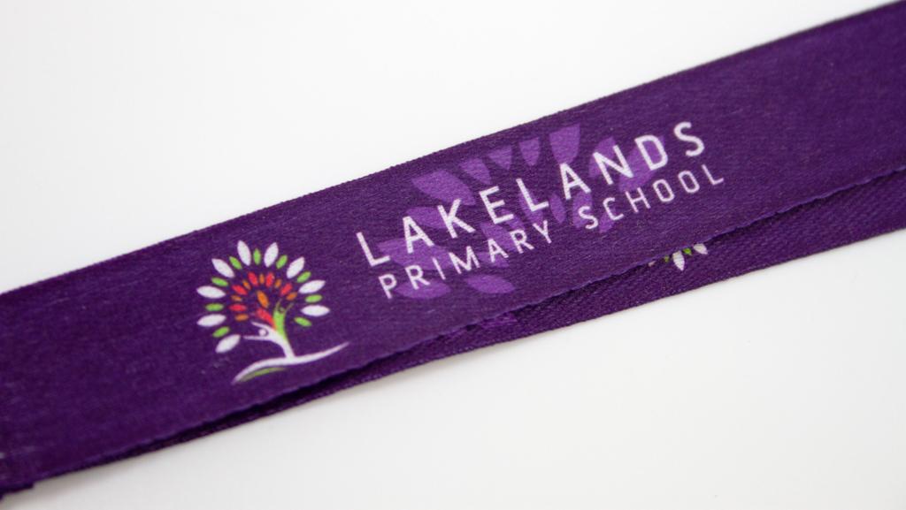 Full colour logo on a lanyard.