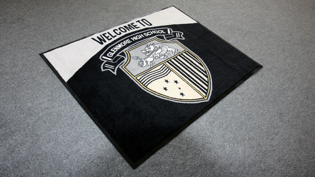 Custom printed logo floor mat.