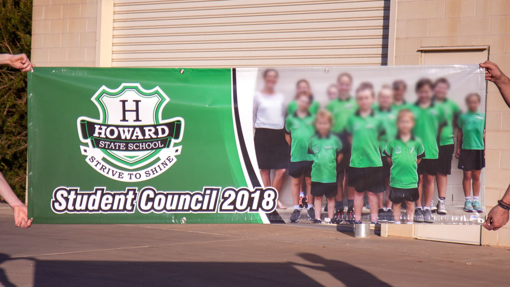 Outdoor PVC banner custom made for a school in Queensland.
